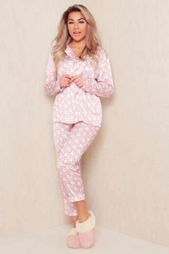 PJ Satin Set Pink