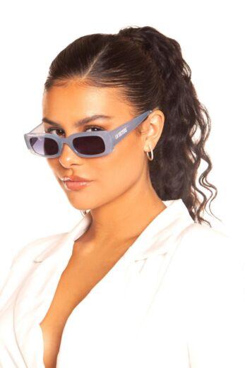 LA Sisters Rectangular Sunglasses Sky Blue Front