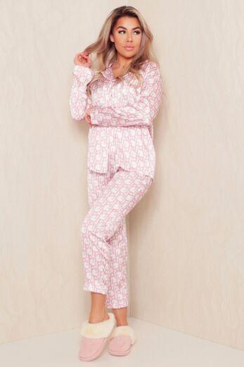 PJ Satin Set Pink