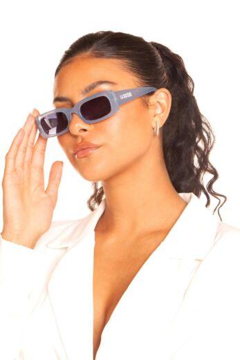 Rectangular Sunglasses Sky Blue