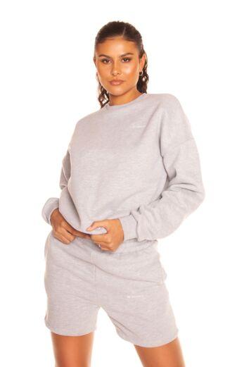 LA Sisters Essential Short Jogging Set Grey