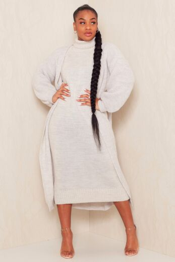 Satisfied Knitted Turtle Neck Set Creme