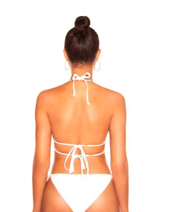 Rhinestone Butterfly Bikini White