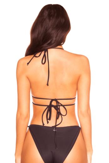 Rhinestone Butterfly Bikini Black