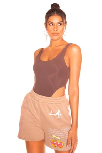 LA Sisters Hot Girl Summer Short Beige Front