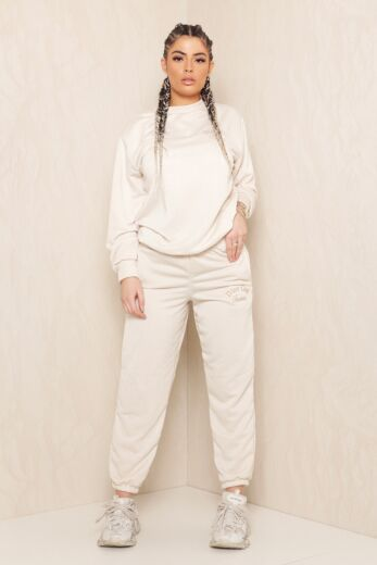 Eve Sweet Girl Sweatpants Creme Front