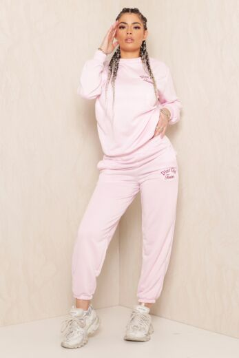 Eve Sweet Girl Sweatpants Pink Front