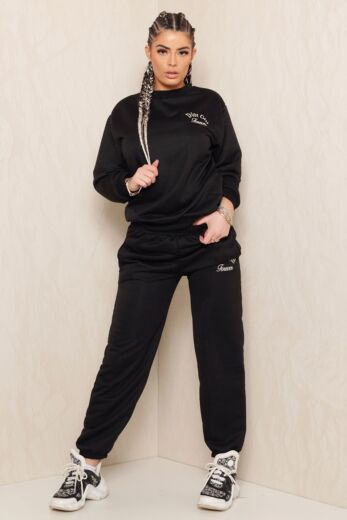 Eve Sweet Girl Sweatpants Black Front