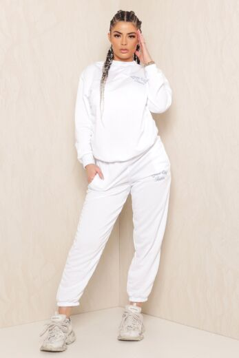 Eve Sweet Girl Sweatpants White Front