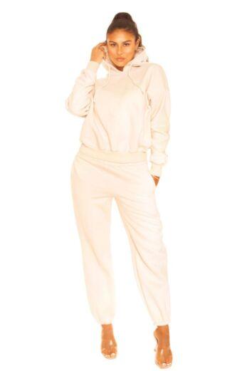 LA Sisters Essential Sweatpants Creme Front