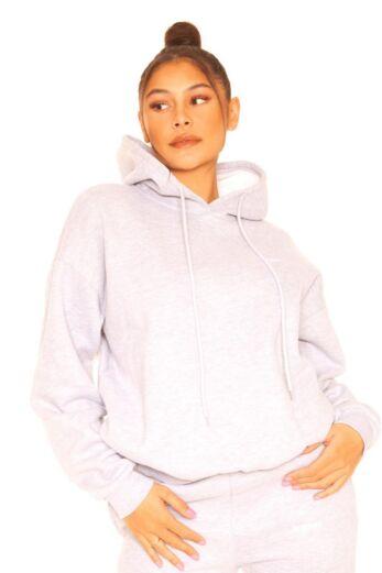 LA Sisters Essential Hoodie Grey Close