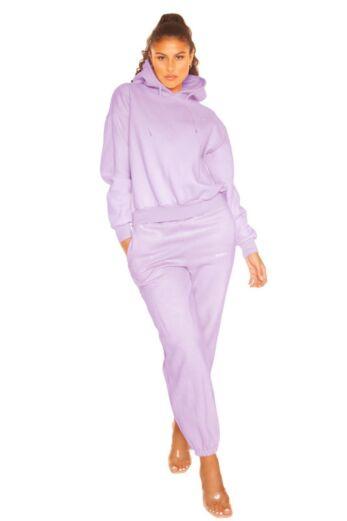 LA Sisters Essential Sweatpants Lilac Front