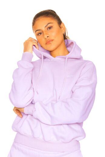 LA Sisters Essential Hoodie Lilac Close