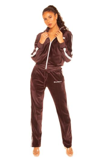 LA Sisters Velvet Flame Two Piece Chocolate Front