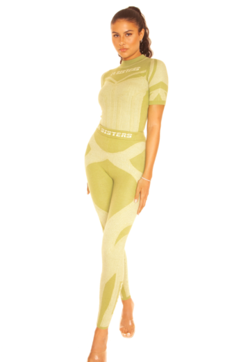 LA Sisters Knitted Sporty Two Piece Pistachio Front