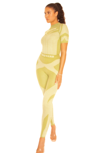 Knitted Sporty Two Piece Pistachio