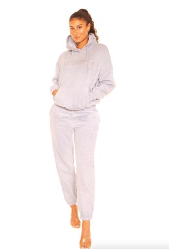 Rhinestone Wifey Sweatpants Grey