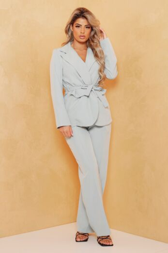 Eve Miss Independent Two Piece Sage Green Front