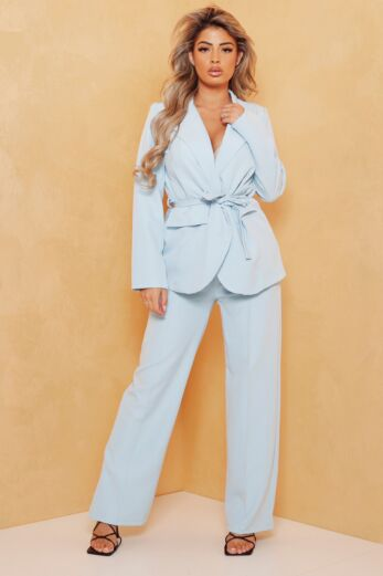 Eve Miss Independent Two Piece Baby Blue Front