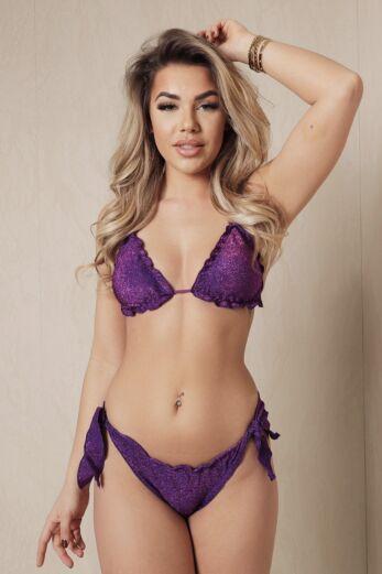 Eve Watch Out Bikini Lurex Purple