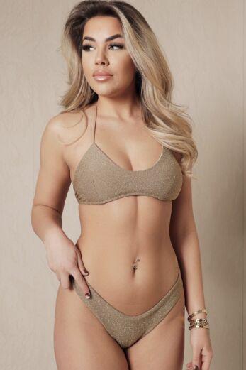 Eve Mix It Up Bikini Lurex Gold