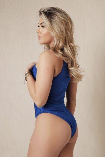 Girl Crush Bathingsuit Lurex Royal Blue