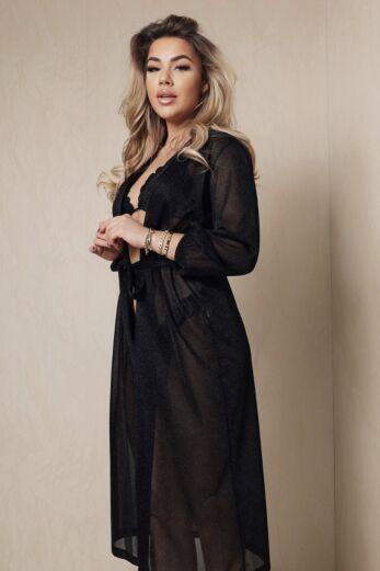 Kimono Lurex Black