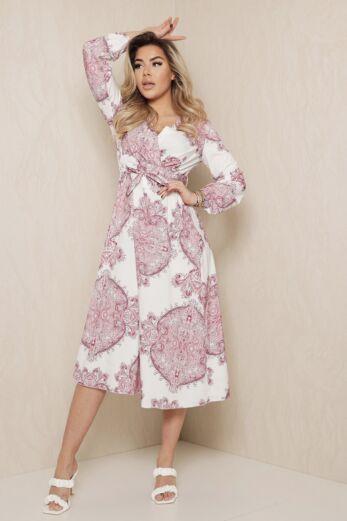 Midnight Hour Dress White Pink