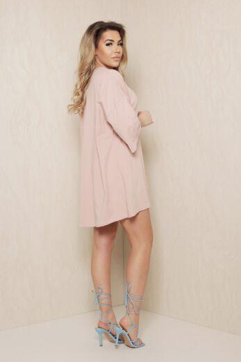 D Oversized T-Shirt Dress Pink