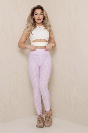 Tiktok Honeycomb Legging Lilac