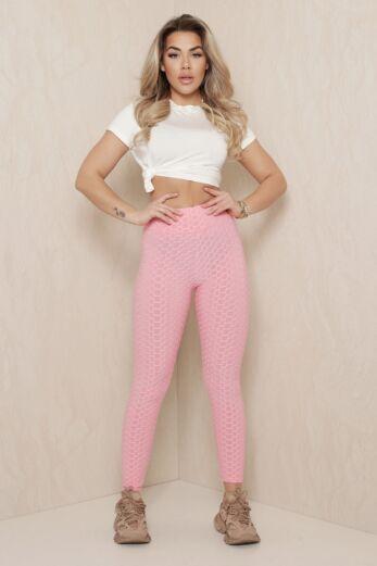 Tiktok Honeycomb Legging Pink