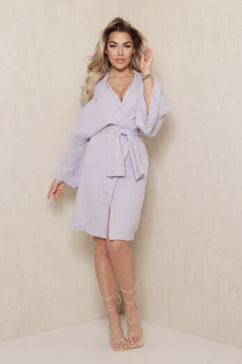 Vision Classy Linnen Kimono Lila