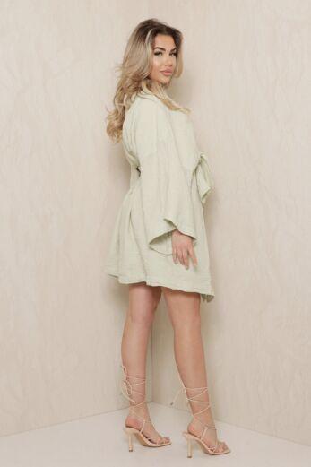 Vision Classy Linnen Kimono Sage Green
