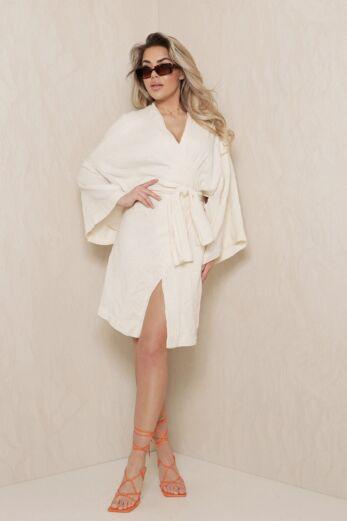 Vision Classy Linnen Kimono Creme
