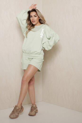 Eve LA Vibes Comfy Set Sage Green Front