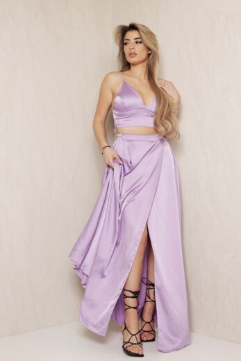 1001 Nights Satin Two Piece Lilac