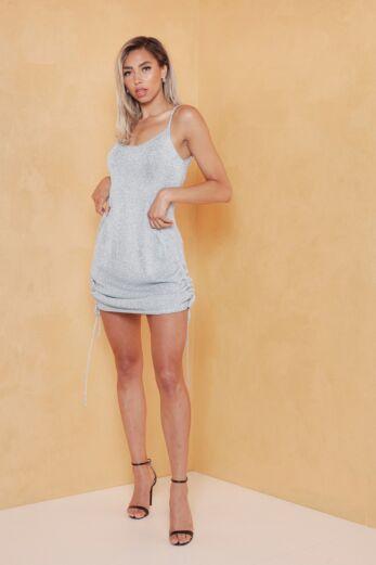 Malibu Ruched Dress Ice Blue