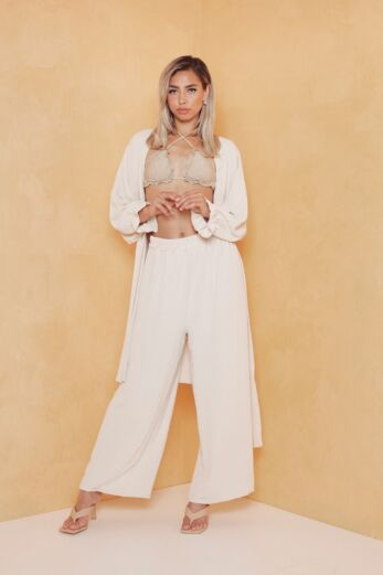 Eve Vision Classy Linnen Two Piece Creme Front