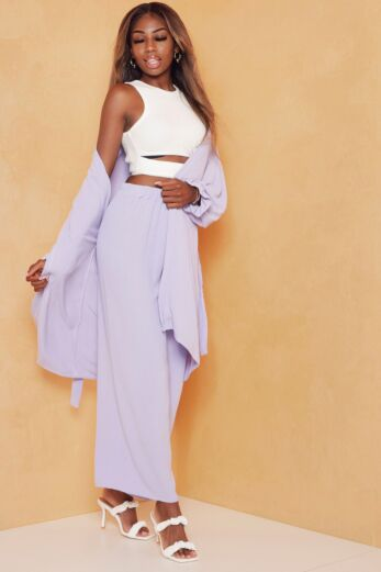 Eve Vision Classy Linnen Two Piece Lila Front