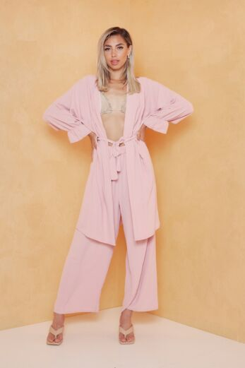 Eve Vision Classy Linnen Two Piece Blush Front