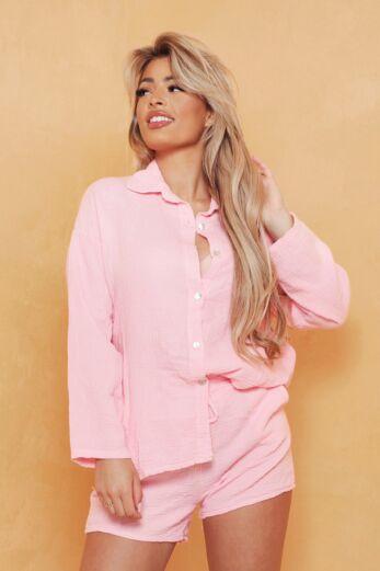 Boyfriend Classy Linnen Set Pink