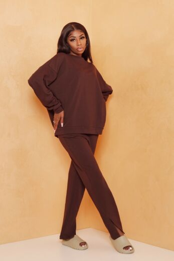 Stateside Comfy Two Piece Chocolate