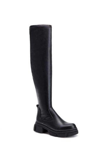 Eve Leather Overknee Boots Black