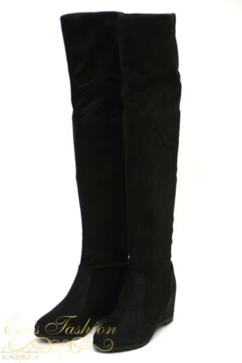over the knee boots front