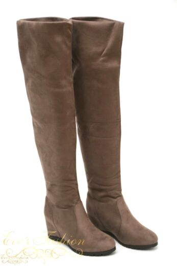 over the knee boots taupe
