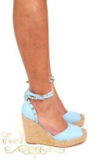 Valentina Wedges Blue