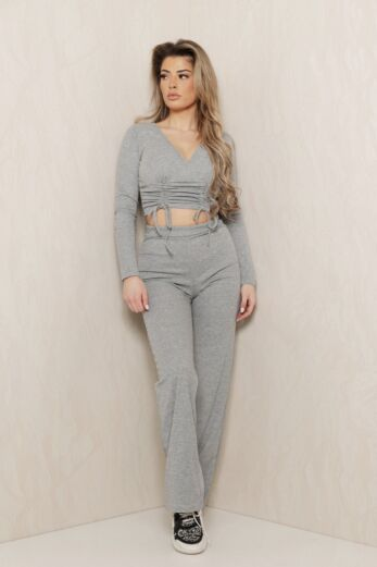 Change of Heart Ruched Two Piece Grey