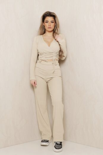 Eve Change of Heart Ruched Two Piece Nude Front