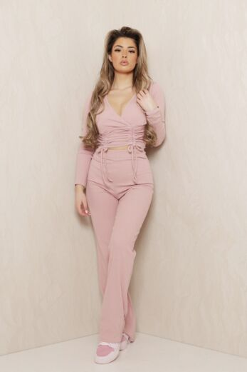 Eve Change of Heart Ruched Two Piece Pink Front