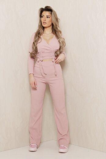 Change of Heart Ruched Two Piece Pink